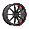 TSW Burnout Alloy Wheels Gloss Black w/ Red Inner Lip