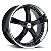 TSW Jarama Alloy Wheels Gloss Black w/ Mirror Cut Lip