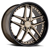 TSW Premio Alloy Wheels Matte Bronze w/ Gloss Black Lip