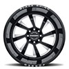 Blaster Forged Gloss Black w/ Milled Spokes