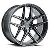 TSW Cairo Alloy Wheels Carbon Graphite (Matte Black w/ Machined Face & Dark Tint)