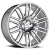 TSW Estate Alloy Wheels Silver w/ Mirror Face