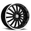 TSW Millennium Alloy Wheels Gloss Black w/ Mirror Cut Lip