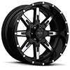 TSW T15 Alloy Wheels Gloss Black w/ Machined Face