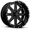 TSW T15 Alloy Wheels Gloss Black w/ Milled Spokes