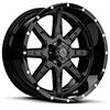 TSW T15 Alloy Wheels Satin Black w/ Gloss Black Lip