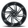 T1B True Directional Gloss Black with Milled Spoke