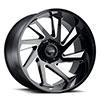 TSW T1B True Directional Alloy Wheels Gloss Black with Milled Spoke