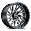 TSW T2A True Directional Alloy Wheels Gloss Black w/ Milled Spoke