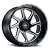 T2B True Directional Gloss Black with Milled Spoke