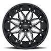 T3B Gloss Black with Milled Spoke
