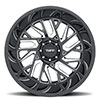 T4B True Directional Gloss Black with Milled Spoke