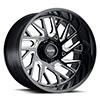 TSW T4B True Directional Alloy Wheels Gloss Black with Milled Spoke