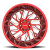 T4B True Directional Machined Candy Red w/ Milled Spoke