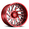 TSW T4B True Directional Alloy Wheels Machined Candy Red w/ Milled Spoke
