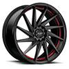TSW R363 Alloy Wheels Satin Black w/ Red Pin