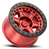 Reno Beadlock Candy Red with Black Ring and Black Bolts
