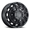 TSW Destroyer Alloy Wheels Textured Matte Black (Front)
