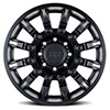 """Mission Matte Black w/ Machined Tinted Spokes (9"""")"""