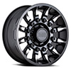 "TSW Mission Alloy Wheels Matte Black w/ Machined Tinted Spokes (9"")"