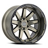 "TSW Oceano Alloy Wheels Matte Bronze w/Black Lip Edge (12"")"