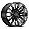 "TSW Pinatubo Alloy Wheels Gloss Black w/Milled Inside Window (9.5"")"