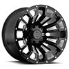 "TSW Pinatubo Alloy Wheels Gloss Black w/Milled Inside Window (12"")"