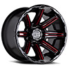 Rampage Gloss Black w/ Red Milled Spokes