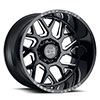 "TSW Reaper Alloy Wheels Gloss Black w/ Milled Spokes (14"")"