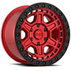 TSW Reno Alloy Wheels Candy Red w/ Black Lip Edge & Black Bolts