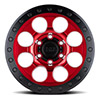 Riot Beadlock Candy Red w/ Black Ring & Black Bolts
