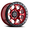 TSW Riot Beadlock Alloy Wheels Candy Red w/ Black Ring & Black Bolts