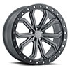 TSW Trabuco Alloy Wheels Matte Gunmetal with Black Lip Edge and Silver Bolts